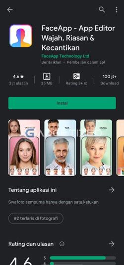 Download Aplikasi FaceApp
