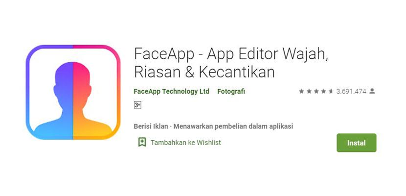 Aplikasi Ganti Wajah FaceApp