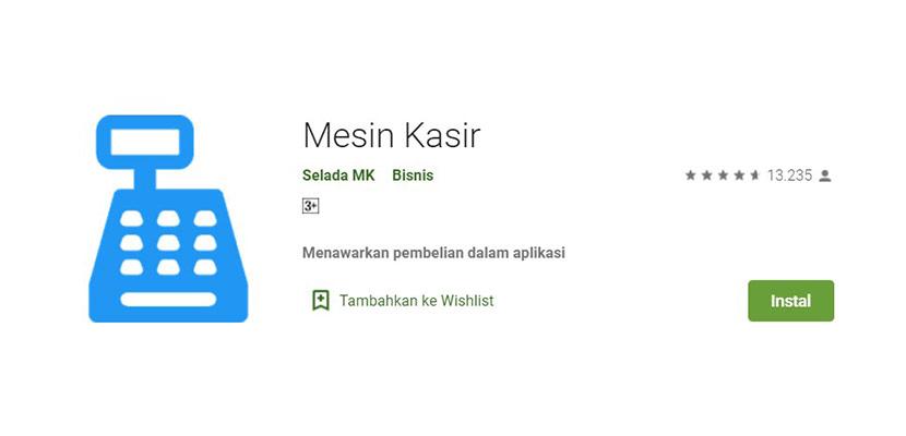 Aplikasi Cetak Struk Mesin Kasir