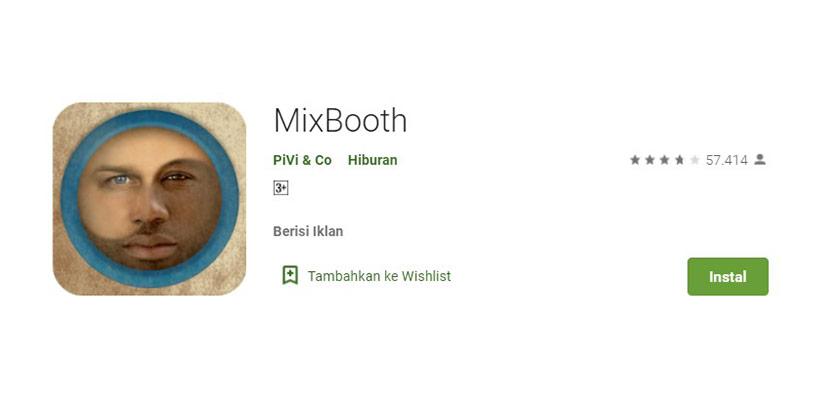 Aplikasi Ganti Wajah MixBooth