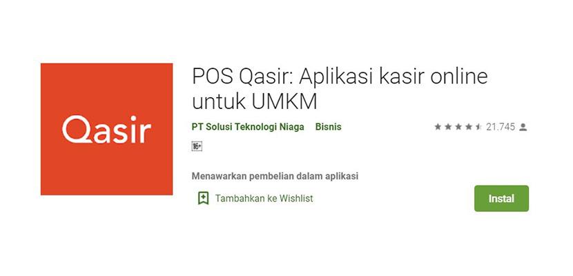Aplikasi Cetak Struk POS Qasir
