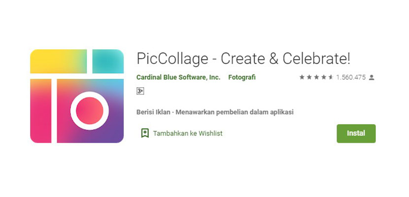 Aplikasi Edit Foto PicCollage