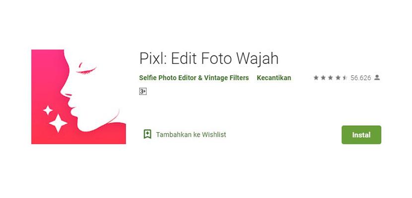 Aplikasi Ganti Wajah Pixl
