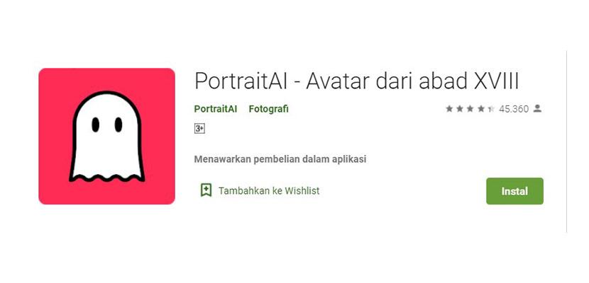 Aplikasi Ganti Wajah PotraitAI