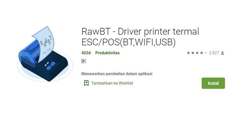 Aplikasi Cetak Struk RawBT