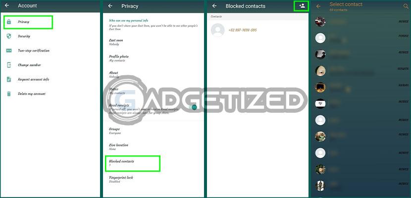 6. Blokir Kontak WhatsApp