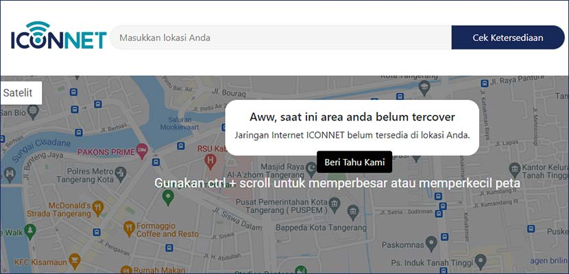 Cek Area Iconnect PLN