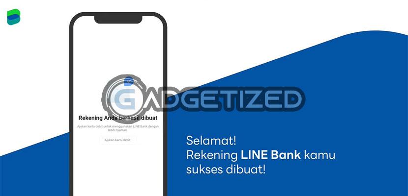 Buka Rekening Line Bank Berhasil