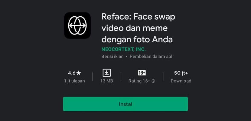 Cara Download Aplikasi Reface App