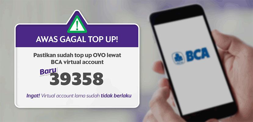 Cara Top Up OVO via mBanking BCA Limit Biaya Admin