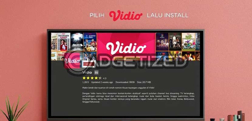 Install Aplikasi Vidio