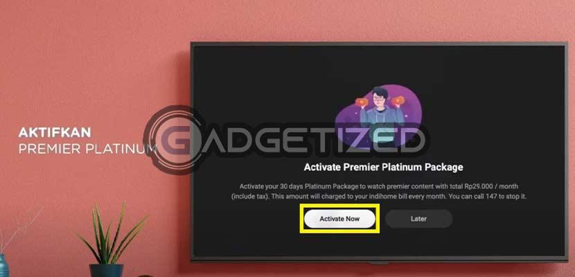 Klik Activate Now