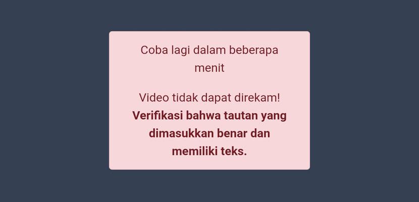 Penyebab Gagal Mengubah Video YouTube Menjadi Teks
