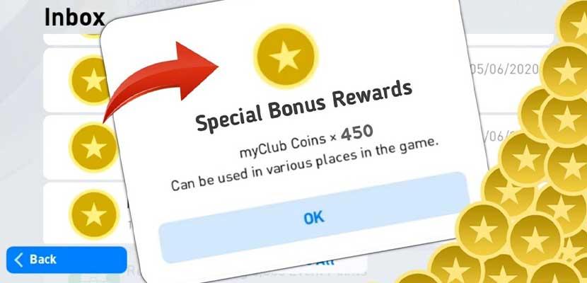 Bonus Beli Koin MyClub di PES 2021 Mobile