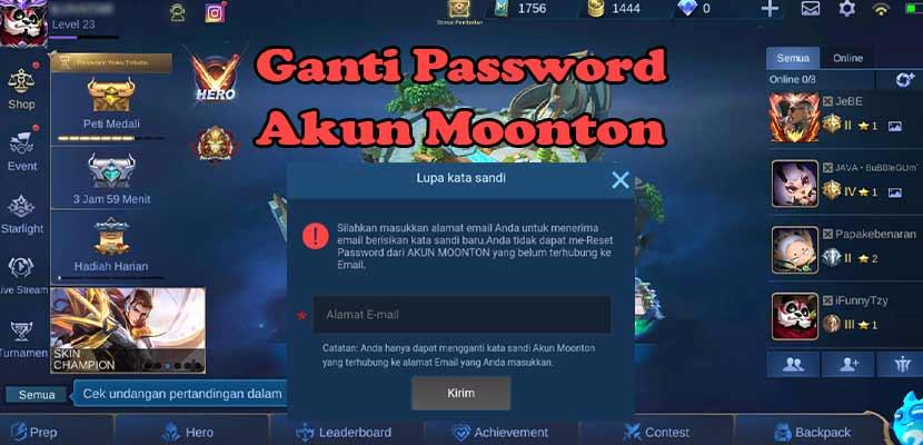 Cara Ganti Password Akun Moonton Mobile Legends