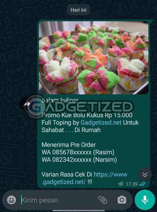 Broadcast WhatsApp Pendek Menarik