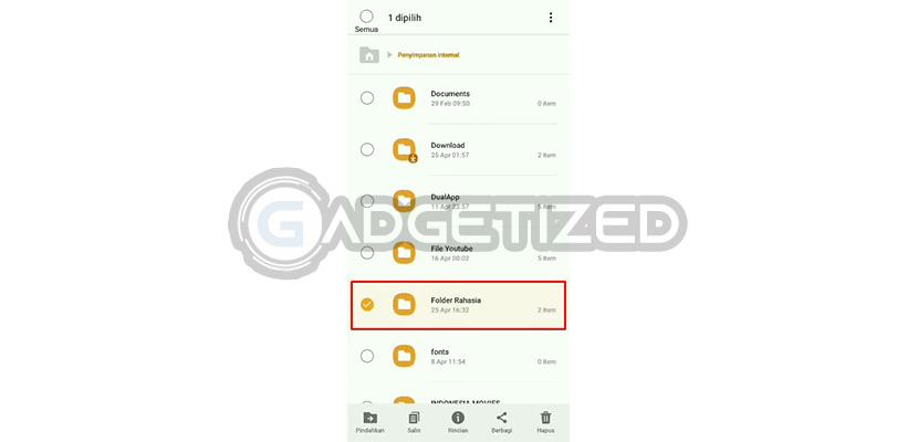 Cari Folder / File